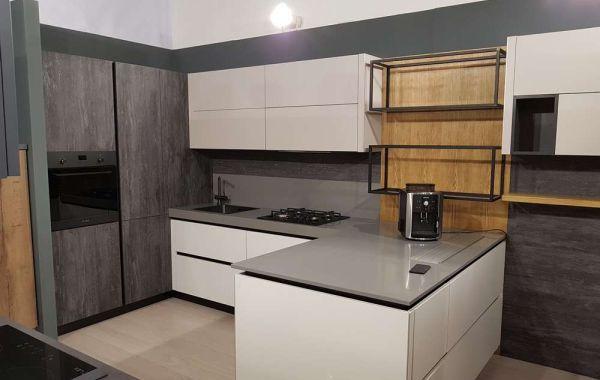 Кухня из МДФ Акрил матовый/ Структурная ЛДСП